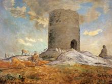 Millet, La torre di Chailly a Barbizon.png