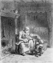 Millet, Mamma con il suo bambino in grembo.jpg