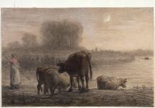Millet, Mucche all'abbeverata.jpg