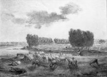 Millet, Paesaggio con pecore.jpg