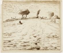 Millet, Paesaggio. Sul fianco di una collina a Gruchy, Normandia.jpg