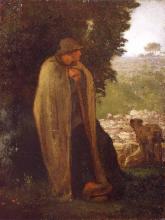 Millet, Pastore a guardia del suo gregge [metà anni 1850].png