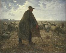 Millet, Pastore a guardia del suo gregge.jpg