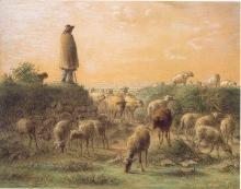 Millet, Pastore che sorveglia le sue pecore.jpg