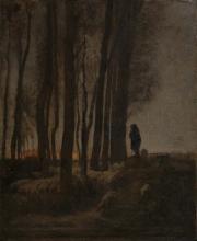 Millet, Pastore e gregge ai margini della foresta, sera.jpg