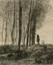 Millet, Pastore e il suo gregge ai margini della foresta, sera.jpg