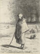 Millet, Pastorella appoggiata a un bastone [1860-1869].jpg