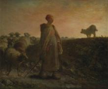 Millet, Pastorella che ritorna con il suo gregge.jpg