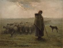 Millet, Pastorella con il suo gregge [1862-1863].jpg