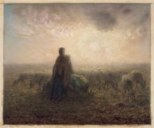 Millet, Pastorella e gregge al tramonto.jpg