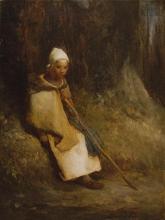 Millet, Pastorella seduta ai margini della foresta.jpg