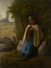 Millet, Pastorella seduta su una roccia.jpg
