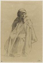 Millet, Pastorella seduta, coperta da un mantello.jpg