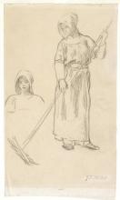 Jean-François Millet, Raccoglitrice di fieno e studio di una testa