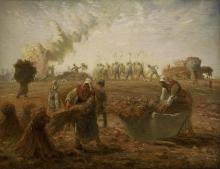 Millet, Raccolta del grano saraceno, estate.jpg