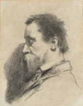 Millet, Ritratto di Leopold Desbrosses a mezzo busto, di profilo a sinistra.jpg