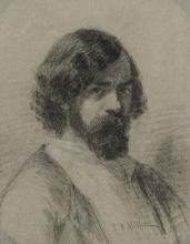 Millet, Ritratto di Narcisse Virgile Diaz de la Pena | Portrait de Narcisse Virgile Diaz de la Pena, en buste | Portrait of Narcissus Virgil Diaz de la Pena, in bust