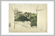 Millet, Scorcio sulla campagna tra due case, Vichy.jpg