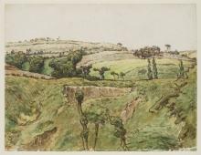 Millet, Un paesaggio collinare con alberi.jpg