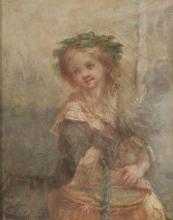 Millet, Una bambina con un cestino.jpg