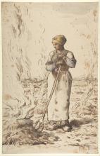 Millet, Una donna che brucia erbacce.jpg