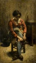 Millet, Una donna che si aggiusta le calze.jpg