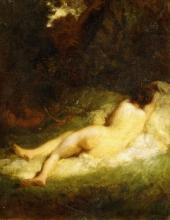 Millet, Una ninfa addormentata spiata da un satiro.jpg