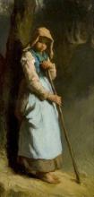 Millet, Una pastorella [1849].png