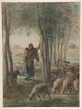 Millet, Una pastorella e il suo gregge all'ombra degli alberi.jpg