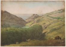 Millet, Una veduta nei pressi di Gréville | Une vue près de Gréville |  A view near Gréville