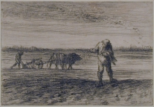 Jean-François Millet, Uomo che ara e un altro che semina | Man ploughing and another sowing