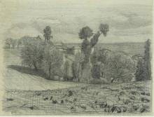 Millet, Veduta di una fattoria che domina il mare.png
