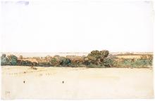 Millet, Veduta panoramica del villaggio di Gruchy.png