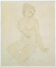 Modigliani (attribuito a), Nudo femminile seduto.jpg