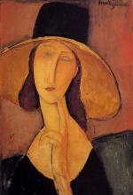 Modigliani, Jeanne Hebuterne con grande cappello.jpg