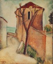 Modigliani, Albero e case.png