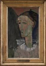 Modigliani, Autoritratto come Pierrot [cornice].jpg