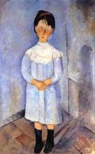 Modigliani, Bambina in azzurro | Little girl in blue | Petite fille en bleu