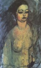 Modigliani, Busto di giovane nuda.png