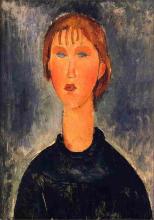 Modigliani, Busto di ragazza bionda.png