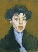 Modigliani, Donna con foulard azzurro.png