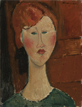 Modigliani, Donna dai capelli rossi [1].png