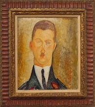 Modigliani, Dr. Francois Brabander [cornice].jpg