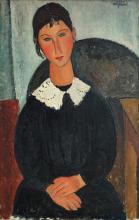 Modigliani, Elvira con colletto bianco.png