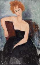 Modigliani, Fanciulla dai capelli rossi in abito da sera.jpg