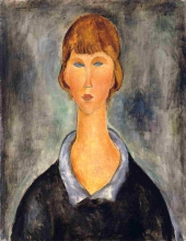 Modigliani, Giovane donna | Jeune femme | Young woman
