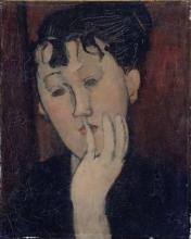 Amedeo Modigliani, Giovane donna con la mano sul mento (Marthe)