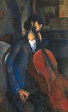 Modigliani, Il suonatore di violoncello.png