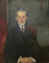 Amedeo Modigliani, Jean-Baptiste Alexandre con crocifisso | Jean-Baptiste Alexandre au crucifix | Jean-Baptiste Alexandre with the crucifix