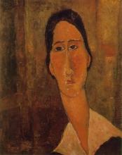 Modigliani, Jeanne Hebuterne con colletto bianco.jpg